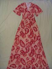 Rachel Pally Floating Feather Caftan Maxi Dress - Sz XXS Rose Pink Print NEW