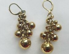 New! gold tone Dangle chandelier Earrings with beads
