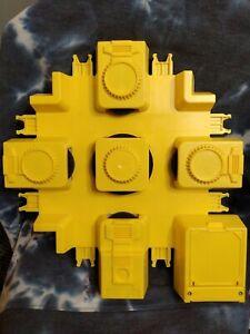 1992 Hot Wheels Criss Cross Crash Motor Yellow Battery Powered Launcher Works