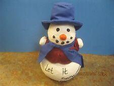"Vintage Estate Christmas decorations Frosty Snowman  8"" H X 5"" W"