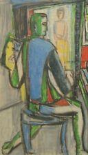 Per THORLIN (1923) HsT Autoportrait / Cubiste Cubist Cubisme Ecole scandinave