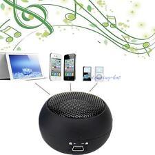 Portable Mini Hamburger Speaker For iPod iPhone Tablet Laptop PC MP3 Black DH