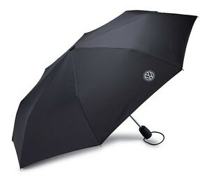 Volkswagen Logo Compact Umbrella, Black Genuine New