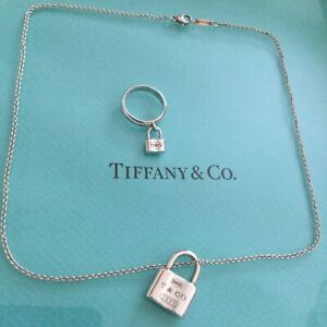 Tiffany & Co. Tiffany Lock Set Necklace And Ring Authentic.