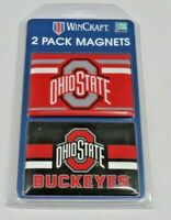 OHIO STATE BUCKEYES 2 MAGNETS HIGH QUALITY FREE SHIPPING SAME DAY