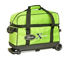 NEW XSTRIKE 2 BALL ROLLER BOWLING BAG LIME GREEN, SPECIAL SALE PRICE $47.95