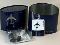 United Airlines amenity kit tissues lip balm hand cream celebrating the 747 blue