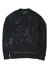 BCBG MAXAZRIA Women Akira Black White Fancy Knitted Jumper Sweater Tops XS S M L