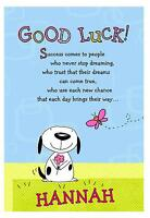 Personalised A5 Good Luck Card Leaving University New Job Moving Goodbye Friends