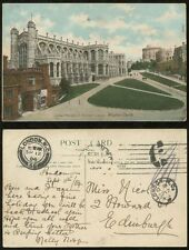 LONDON 1904 MACHINE CANCEL + PAID in CASH INSPECTORS CDS 1d WC to SCOTLAND