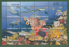 THAILAND 2010 Marine Life Surch. M/S (100b x 9)