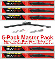 """5-Pack Trico 11-H (x5) 11"""" Rear Wiper Blades Fit Push Button/Trunion Rear Arms"""