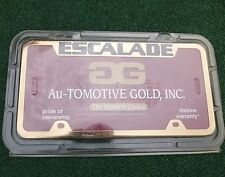 Cadillac Escalade License Plate Frame GM Official Licensed Gold Factory Metal