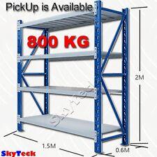 1.5m Metal Steel Garage Storage Warehouse Shelves Shelving Rack 800kg oz1-1520BG