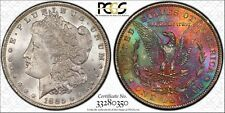 *REVERSE MONSTER TONED* 1885-O $1 Morgan Silver Dollar MS63 PCGS