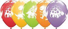 "25 x 11"" Assorted Cute Dinosaur Latex Balloons Ideal Birthday Party Decoration"