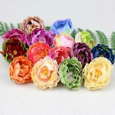 Assorted colors 2.36inch Silk Peony Heads Artificial Peony Flower DIY Wholesale