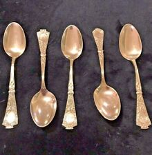 "Antique Coin Silver Spoon Set Lot (5) JS & S Monogrammed ""D"""