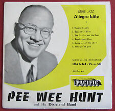 """PEE WEE HUNT AND HIS DIXIELAND BAND  10"""" 25 CM  LP ORIG  FR   ALLEGRO"""