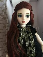 Tonner Ellowyne Wilde size 6-7 - Resin Deep Dark Forest Long Auburn Wig ONLY