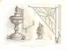 1851 d'architectes français print fonts baptismaux dans l'église de la colombe Cologne