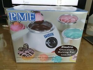 PME CM103/4/5 Electric Chocolate Melting Pot with 3 Pots Included, White