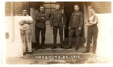 Postcard WW1 era The 5 Knuts Royal Engineers RE Soldiers Curragh 1919 RPPC 15a
