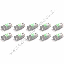 10 x Green 5v 10mm T10 Wedge Base LED Bulbs for Arcade Push Buttons - MAME