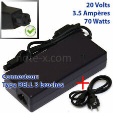 CHARGEUR ALIMENTATION  POUR DELL INSPIRON 8000 8100 7500 20V 3.5A