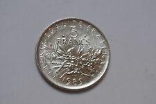 5 FRANCS SEMEUSE 1989 FDC COTE 25 EUROS