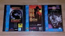 Sega CD Game Lot [READ DESCRIPTION] Mortal Kombat Prize Fighter Mad Dog McCree