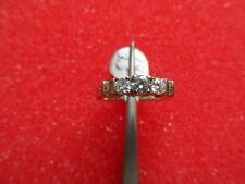 14K. WHITE AND YELLOW GOLD ****** 5 STONE ROUND DIAMOND RING 3.5 GRAMS .62 CTW.