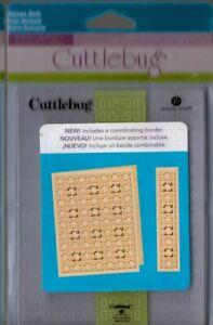Cuttlebug Roman Bath Embossing Folder set~BNIP~A2~Fast Ship!!