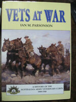 Vets At War History Australian Army Veterinary Corps War Horses WW1 book
