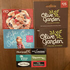 $130 Value - Multiple Restaurant Gift Cards Authentic Verified Ships FREE!!! For Sale