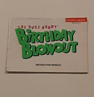 The Bugs Bunny Birthday Blowout Instruction Manual Only NES Nintendo