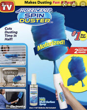 Hurricane Spin Duster Motorized Dust Wand w/ Free Extension For Ceiling & Fans