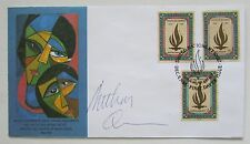 ANTHONY QUINN HAND SIGNED AUTOGRAPHED WFUNA UNITED NATIONS FDC 1988 HUMAN RIGHTS