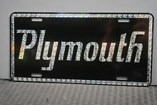 RETRO 1970'S PRISM PLYMOUTH METAL LICENSE PLATE DUSTER ROAD RUNNER BARACUDA GTX