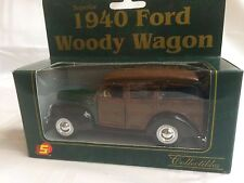 Superior Collectibles 1940 Ford Woody Wagon Die Cast Metal