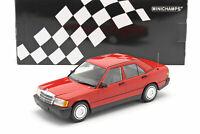 Mercedes Benz 190E (W201) rouge de 1982 au 1/18 de Minichamps 155037000