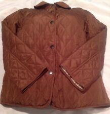 Three Hearts, Women, Lightweight, Quilted, Jacket, Button, Brown, Sz M/L