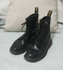 Dr. Martens 1460 Vintage Womens 8 Eye Leather Boots Sz UK3 Black Made in England