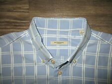 Burberry London Dress Shirt Blue LG Made USA