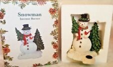 Christmas Snowman Incense Burner Handcarved By Harry Smith Paine Products Inc.