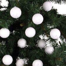 24 schneeball-weihnachtsbaumkugeln PALLA DI NATALE ACCESSORIO PER ALBERO