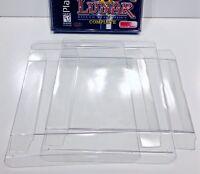 10 DUAL DISC Box Protectors  Fits Over Jewel Case!  Playstation 1 PS1 Dreamcast