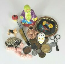 Junk Drawer Lot~ Unusual~ Unique~ Collectables, Ceramics, Tokens, Ect~ As Is~ A1