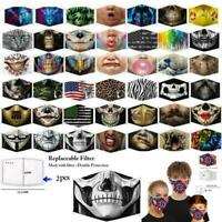 Men Face Mask Washable Breathable Unisex Reusable Covering Mouth Nose Protection