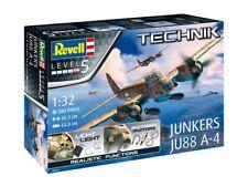 REVELL Junkers JU88 A-4 ''Technik'' Light & Motor 1/32 Plastic Model Kit R00452